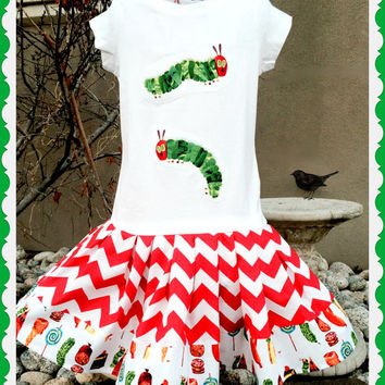 Hungry Caterpillar dress very hungry caterpillar girls  2T 3t 4T 5/6 6X 7/8 10/12