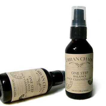 Organic Cleansing Oil 2oz - Organic Face Wash - Oily Skin Acne Wash - Organic Hemp Oil, Tea Tree Oil & Lavender Oil - Organic Face Cleanser