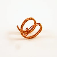 Adjustable Copper Wire Wrapped Ring Boho Elegant Style