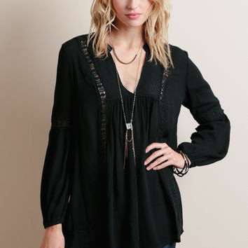 Blair Crochet Tunic Blouse