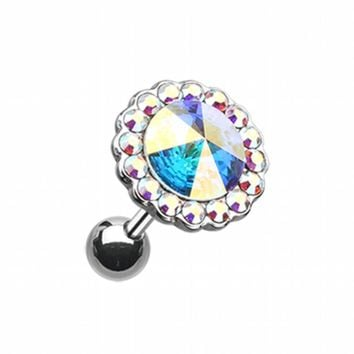 Studded Gem Unity Crystal Cartilage Tragus Earring