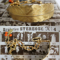 Bent Feather Bracelet