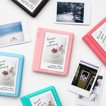 Colorful Instax mini small slip in pocket photo album