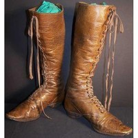 Custom Boots by Motorcowboy Brown leather hiking boots below calf