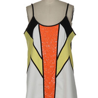 Cruising Together Sequin Dress - White + Orange