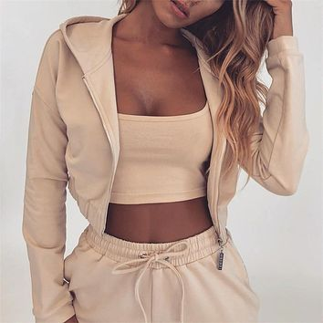Fuedage summer Autumn Two Pieces Set Hoodie Top And Pant Tracksuit Women Set Elastic Waist Leisure 2 Piece Set Women Outfits