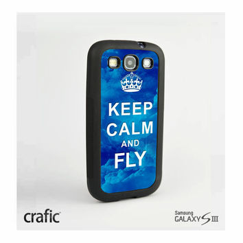 Keep Calm and Fly Case Samsung i9300 Galaxy S3 III