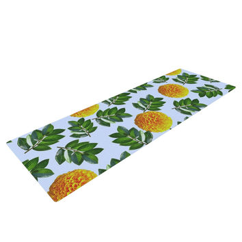 "Sreetama Ray ""More Marigold"" Green Blue Yoga Mat"