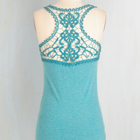 Boho Mid-length Sleeveless Poet to Be True Top in Teal