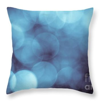 "Bokeh Blues Throw Pillow for Sale by Jan Bickerton - 14"" x 14"""