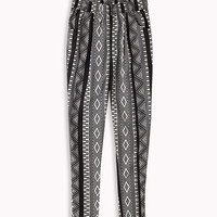 Geo Print Satin Trousers