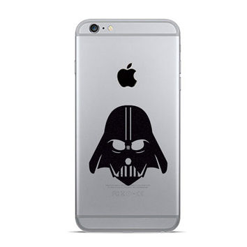 Darth Vader iPhone 6 Decals - Two Velvet Fabric iPhone 6 Plus Stickers - Black Galaxy s5 - Two Star Wars Inspired Decal - Fabric Stickers