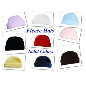 Fleece Baby Hats - Lots of Color Choices!