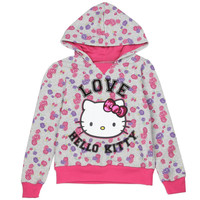 HELLO KITTY GIRLS 7-12 PULLOVER HOODIE.