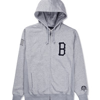 Heather Qualite B Logo Zip Hoodie