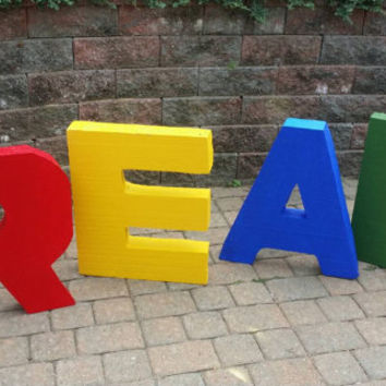 Classroom decor- school decor- large free standing letters- writing center- library decor- styrofoam letters- writing center- photo props