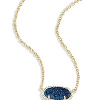 Elisa Pendant Necklace in Blue Drusy | Kendra Scott