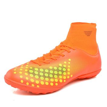 Speedfly Men Soccer Shoes High Ankle Superfly Football Boots FG TF Kids Cheap Cleats Athletic Training Boots