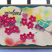 You're Loved- Handmade Card