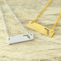 State of Florida Bar Necklace