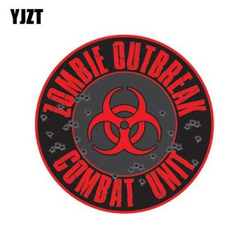 YJZT 10CM*10CM RESIDENT EVIL ZOMBIE Personality Reflective Car Sticker Motorcycle Parts C1-7110