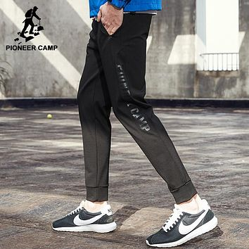 New summer thin joggers men clothing fashion black printed sweat pants top quality stretch trousers