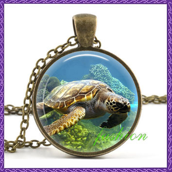 Sea Turtle & Seahorses Necklace: SAVE $3 TODAY