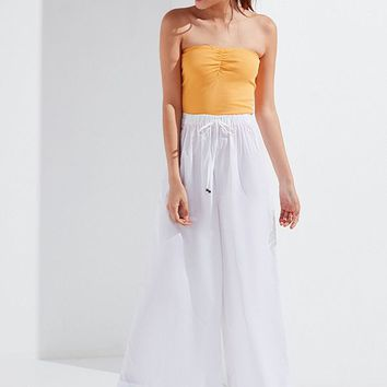 UO Alice Poplin Wide-Leg Pant | Urban Outfitters