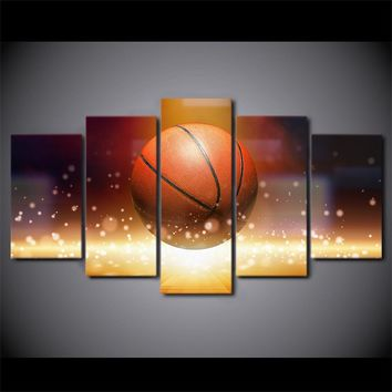 Canvas wall art basketball HD print wall panel poster picture -  man cave!