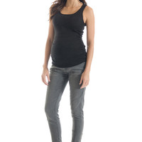 Lilac Skinny 5 Pocket Maternity Jeans - Grey