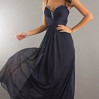 Xscape Long Navy Blue Gown