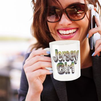 Jersey Girl Mug - Jersey Girl Coffee Mug - hand drawn by ZenJoanie