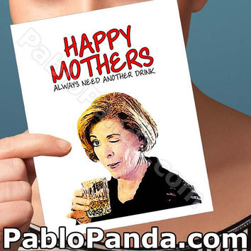 Mothers Day Card | Lucille Bluth | Arrested Development  Michael Cera Mother Daughter Mom Blank Cards Card For Mothers Mothers Day Gift Gift