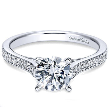 "Gabriel ""Krista"" Classic Prong Set Cathedral Diamond Engagement Ring"