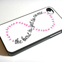 Infinity Quote Pink - iPhone 4 / iPhone 4S / iPhone 5 Case Cover