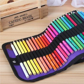 50psc Pencil+Pencil Case Safe Non-toxic Water Soluble Colored Pencils Watercolor Pencil Set Art Painting Graffiti Kid Stationery