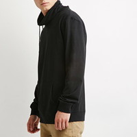 Drawstring Funnel Neck Pullover