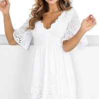 Ribbon In The Sky dress in white Produced By SHOWPO