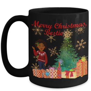 Merry Christmas Bestie Sweater Coffee Mug