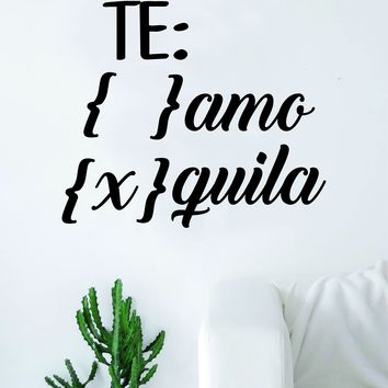 Te Amo Quote Wall Decal Sticker Room Art Vinyl Home Decor Funny Spanish Adult Man Cave