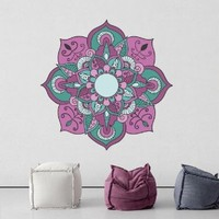 Full Color Wall Decal Mandala Model Map Ornament Star Buddha Yoga flower mcol40