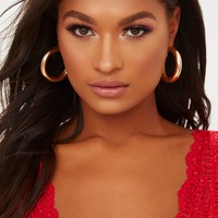 Gold Small Thick Hoops