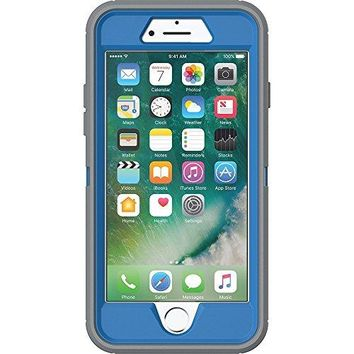 OtterBox Defender Series Case for iPhone 8 and iphone 7 - Retail Packaging - Marathoner (Cowabunga Blue/Gunmetal Grey)