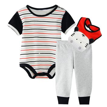 Richu baby clothing sets baby boy clothes 3 piece set baby girl clothes summer 0-3 months 2018 winter new born short sleeve