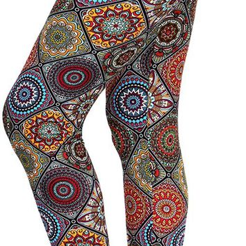 VIV Collection Updated Best Selling Popular Printed Brushed Buttery Soft Leggings Regular and Plus 40+ Designs List 1