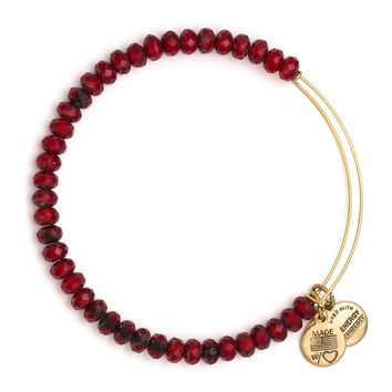 Scarlet Luminary Beaded Bangle