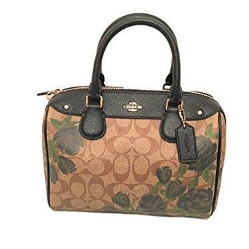 COACH MINI BENNETT SATCHEL WITH CAMO ROSE FLORAL PRINT, F25870