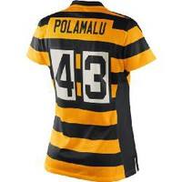 Pittsburgh Steelers Nike Women's Troy Polamalu Replica Third Jersey - Official Online Store