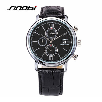 Watches multifunction leather bracelet casual