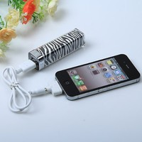 Elivebuy® Fashion Zebra-stripe Design 2500mah Mobile External Power Battery Charger for Various Mobile Phones and Digital Devices